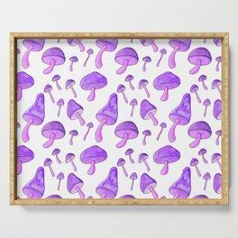 Purple Mushroom Serving Tray