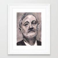bill murray Framed Art Prints featuring Bill Murray by Joe Humphrey
