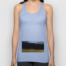 Black and Gold grunge stripes on clear white background - Stripe - Striped Unisex Tank Top