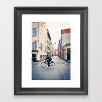 Copenhagen Bicycle (Alternate Size) Framed Art Print