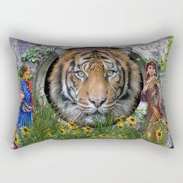 A wildlife, Bengal-tiger Rectangular Pillow
