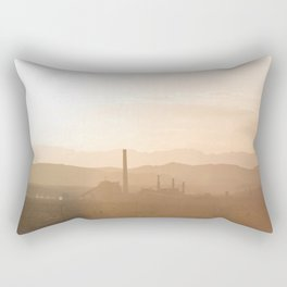 Factory in the Desert Rectangular Pillow