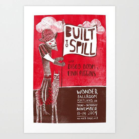 Built to Spill - Wonder Ballroom, Portland Art Print