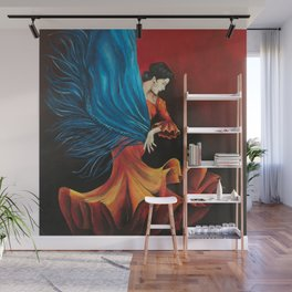 Spanish Flamenco Dancer Wall Mural