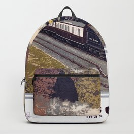 100 Years of Progress, 1835-1935. GWR Vintage Travel Poster Backpack