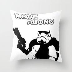 Move Along Throw Pillow