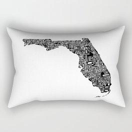 Typographic Florida Rectangular Pillow
