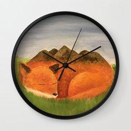 Sleepy Meadow Wall Clock