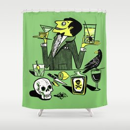 Drinks With The Mad Scientist Next Door Shower Curtain