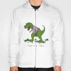 T. Rex in a V-neck Hoody