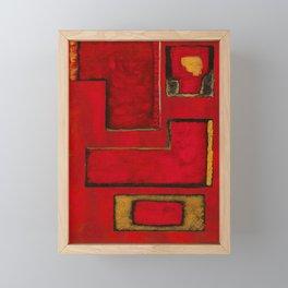 Detached, Abstract Shapes Art Framed Mini Art Print