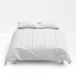 Glacier Gray Polka Dots Comforters