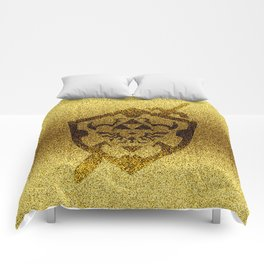 zelda shield gold Comforters