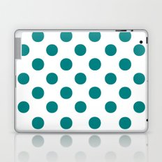 Polka Dots (Teal/White) Laptop & iPad Skin