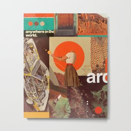 Archival World Metal Print