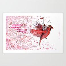 The Cardinal of Direction Art Print