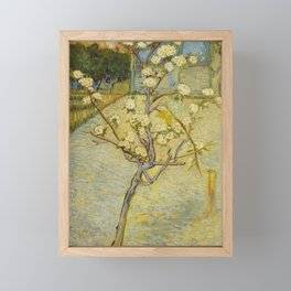 Vincent van Gogh - Small Pear Tree in Blossom (1888) Framed Mini Art Print