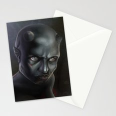 Demonoid Girl Portrait Stationery Cards