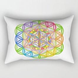 Hidden Jewel - The Rainbow Tribe Collection Rectangular Pillow
