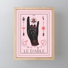 Le Diable or The Devil Tarot Framed Mini Art Print