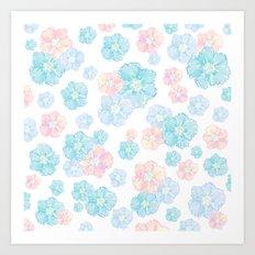Blossoms Pastel  Art Print
