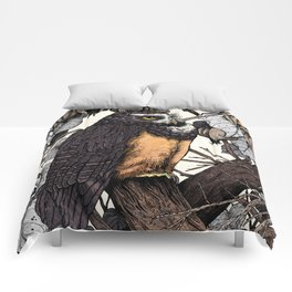 Spectacled Owl Comforters