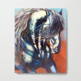 Fresian Stallion Metal Print