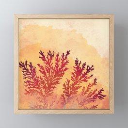 Manganese Dendrites On Fire Framed Mini Art Print