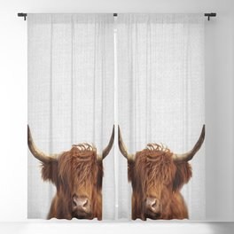 Highland Cow - Colorful Blackout Curtain