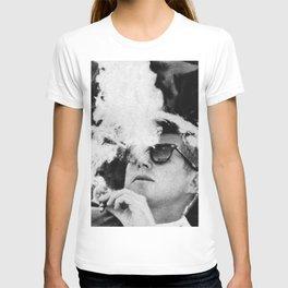 Cigar Smoker Cigar Lover JFK Gifts Black And White Photo T-shirt
