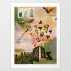Hearts Door Art Print