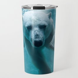 Polar Bear Swimming Travel Mug