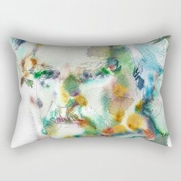 MARK TWAIN - watercolor portrait Rectangular Pillow