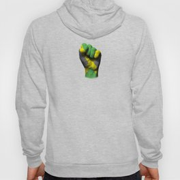 Jamaican Flag on a Raised Clenched Fist Hoody