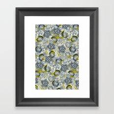 succulents chartreuse indigo Framed Art Print