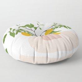 Lemon Branches Floor Pillow