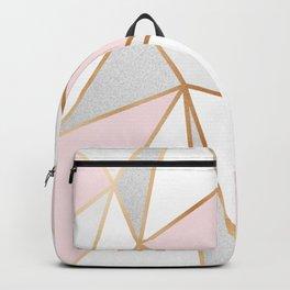 Pink, Grey & Gold Geo Backpack