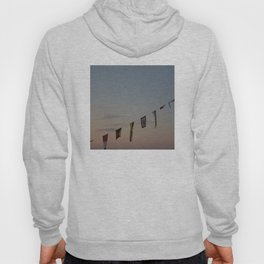 Flags and sunset Leith Edinburgh Hoody