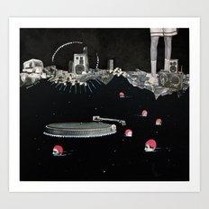 swimming01 Art Print