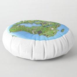 Data Earth Floor Pillow