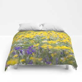Meadow Gold - Wildflowers in a Mountain Meadow Comforters