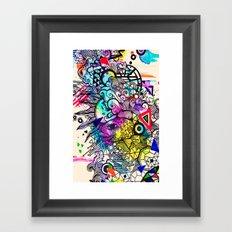 Doodle in Color Framed Art Print