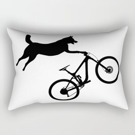 funny MTB mountain bike cycling dog lover gift Rectangular Pillow