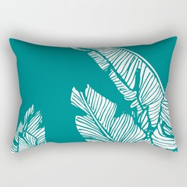 Banana Leaves on Teal #society6 #decor #buyart Rectangular Pillow