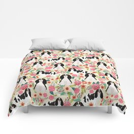 Cavalier King Charles Spaniel floral flowers dog breed pattern dogs Comforters