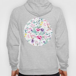 Chinoiserie Decorative Floral Motif Hoody