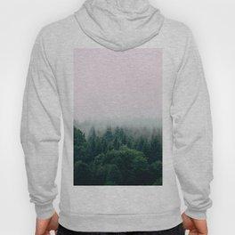 Misty Green Pine Forest Grey Fog Hoody