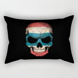 Dark Skull with Flag of Thailand Rectangular Pillow
