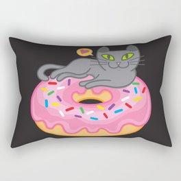 My cat loves donuts 2 Rectangular Pillow