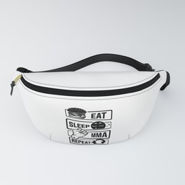 Eat Sleep MMA Repeat - Mixed Martial Arts Fighter Fanny Pack